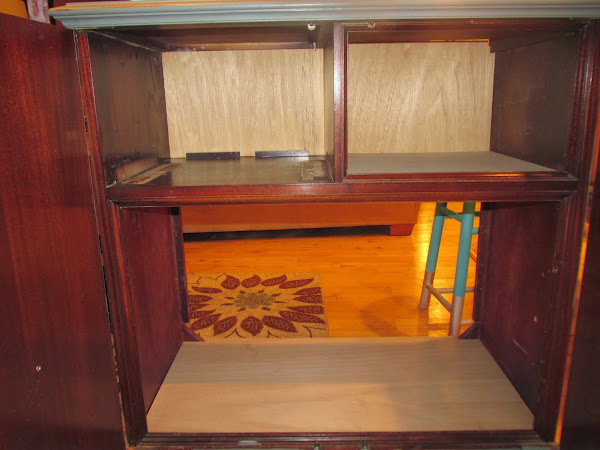 Exceptional He Covered The Hole And Cut A Piece Of Veneer To Fit In The Back.