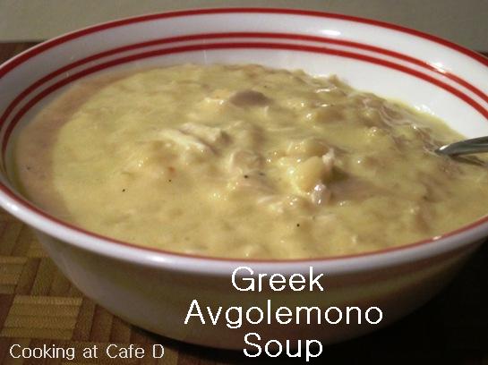 Cooking at Café D: Avgolemono Soup (Greek Egg and Lemon Soup)