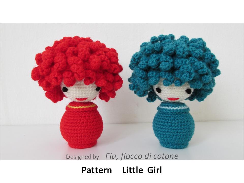 Amigurumi Pattern Lil Quack : Fia, fiocco di cotone: pattern Little Girl - miniature ...