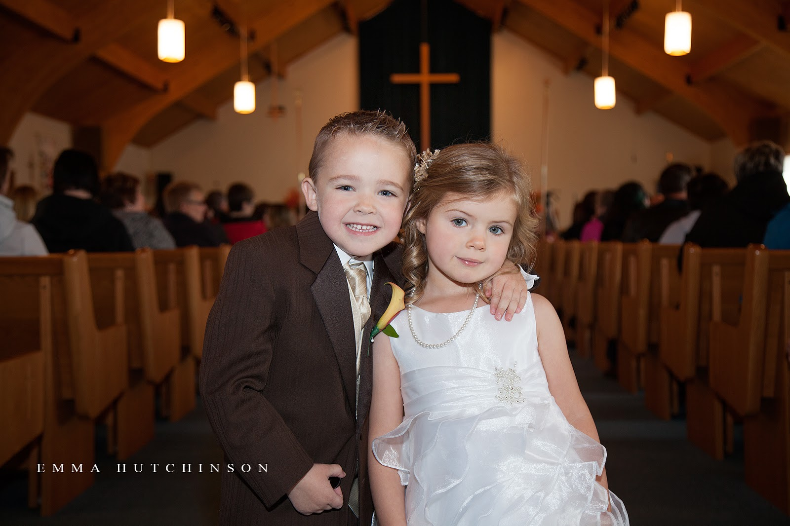 Fall wedding in Lewsiporte, Newfouland - the sweetest flower girl and ring bearer