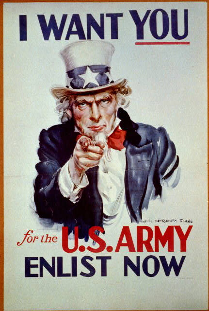 advertising, vintage, vintage posters, free download, graphic design, retro prints, classic posters, poster, war, military, wwii, I Want You for the US Army, Enlist Now - Vintage War Military Poster