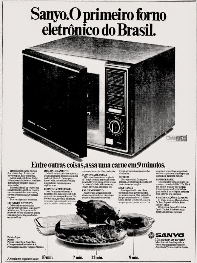 Sanyo.  os anos 70; propaganda na década de 70; Brazil in the 70s, história anos 70; Oswaldo Hernandez;