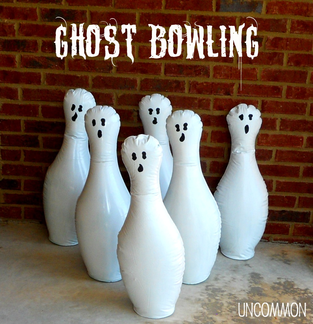 diy ghost bowling gameu2026 a halloween party game