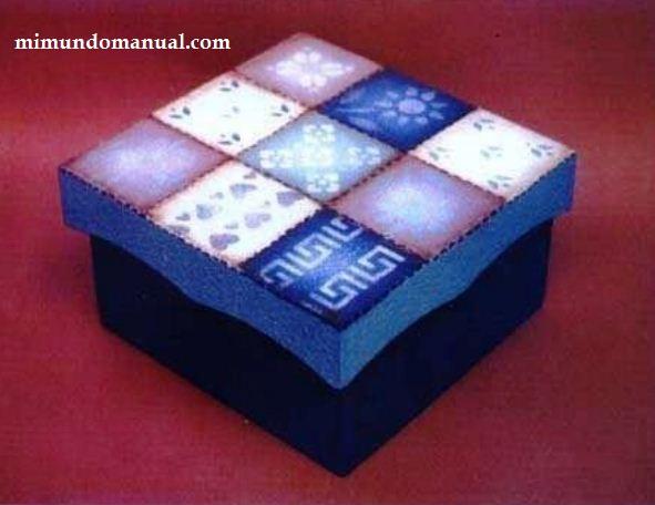 Como decorar paso a paso caja de madera mimundomanual - Cajitas de madera para decorar ...