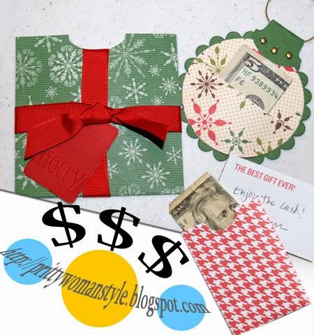 Идеи за подарък пари в плик за Коледа