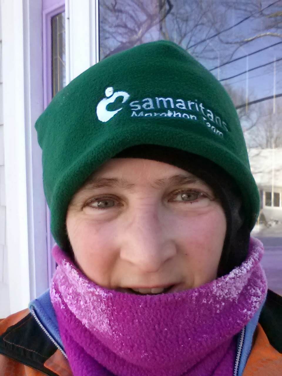 after 13 miles outdoors in temps from -2 to 8 with windchill