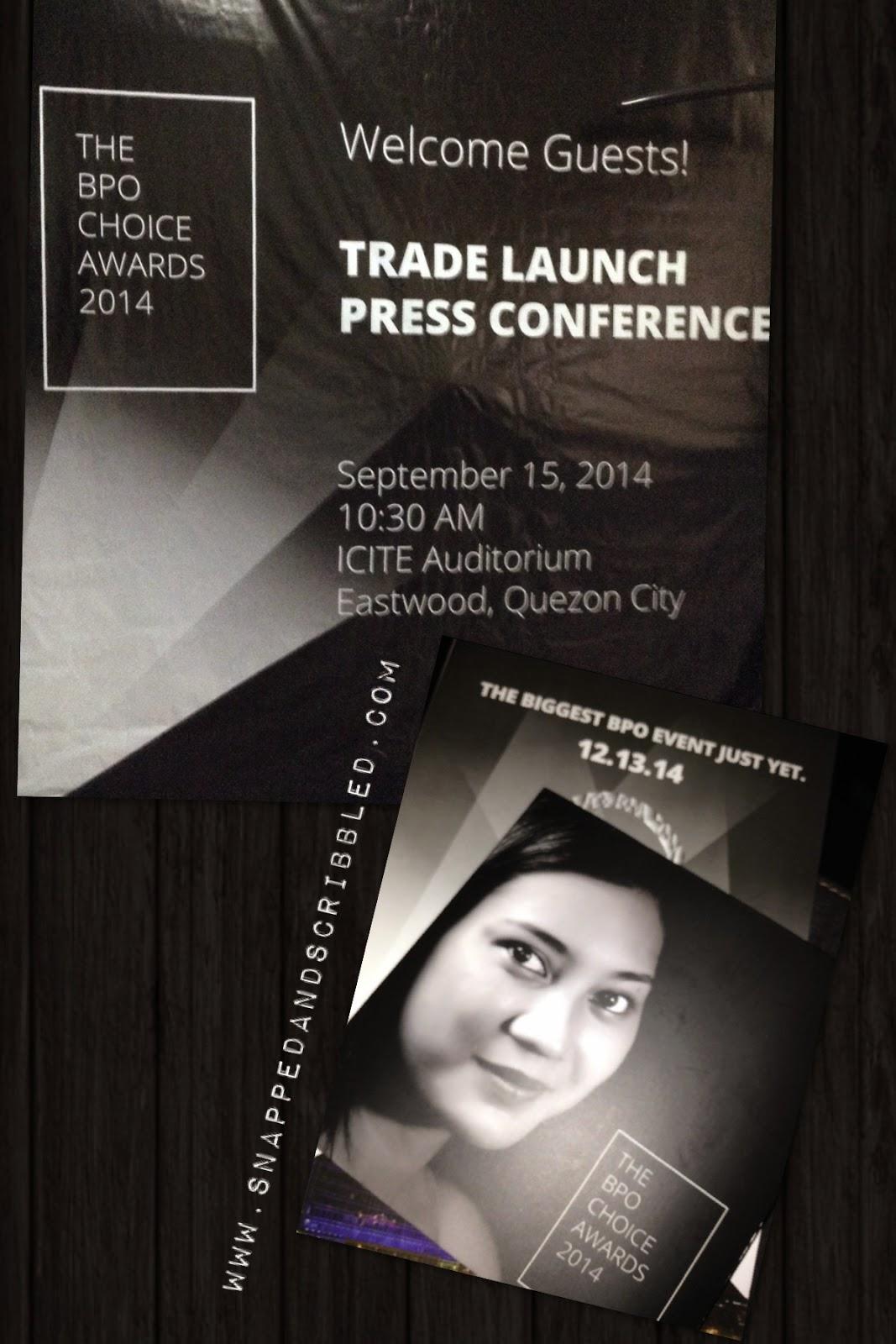 The BPO Choice Awards 2014 Trade Launch Press Conference