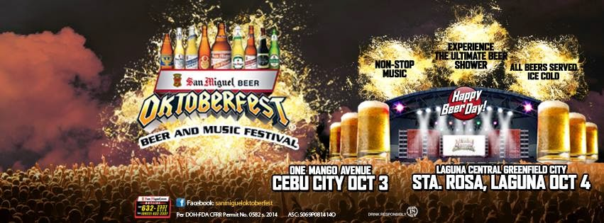 2014 San Miguel Oktoberfest Schedule this October 3 and 4