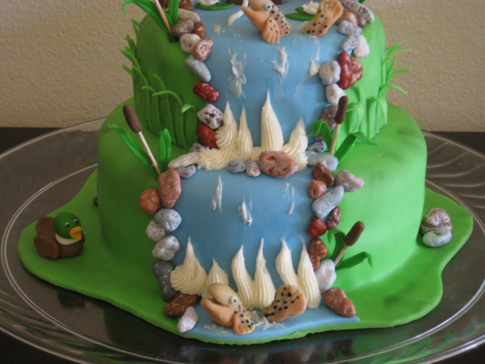 Bashert cakes fly fishing birthday cake for Fish birthday cakes