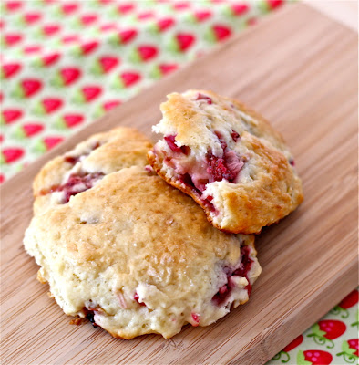 strawberry rhubarb drop scones recipe