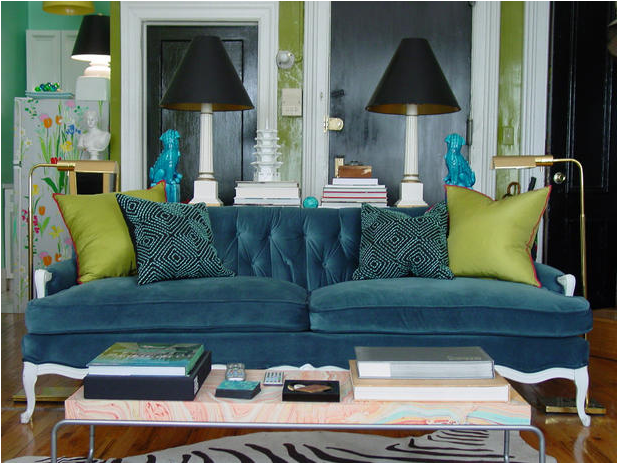 blue and green living rooms house interior designs
