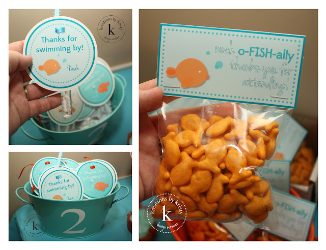 Fish-themed birthday party favors | kreations by kristy