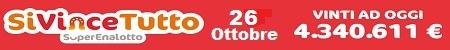 SiVinceTutto prossima estrazione 26 Ottobre 2016
