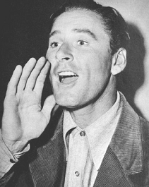 Errol Flynn shouts out to someone