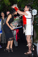 Rihanna receiving a crown as the Queen of the West Hollywood Halloween Carnival 2012