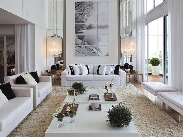 Construindo minha casa clean salas modernas de estar e for Fotos salas modernas