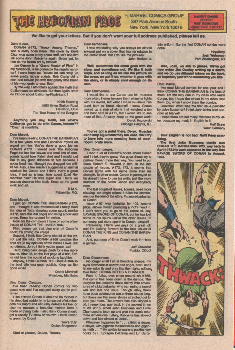 Conan the Barbarian (1970) Issue #177 #189 - English 24