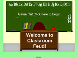 a screem shot of the smart board program classroom feud