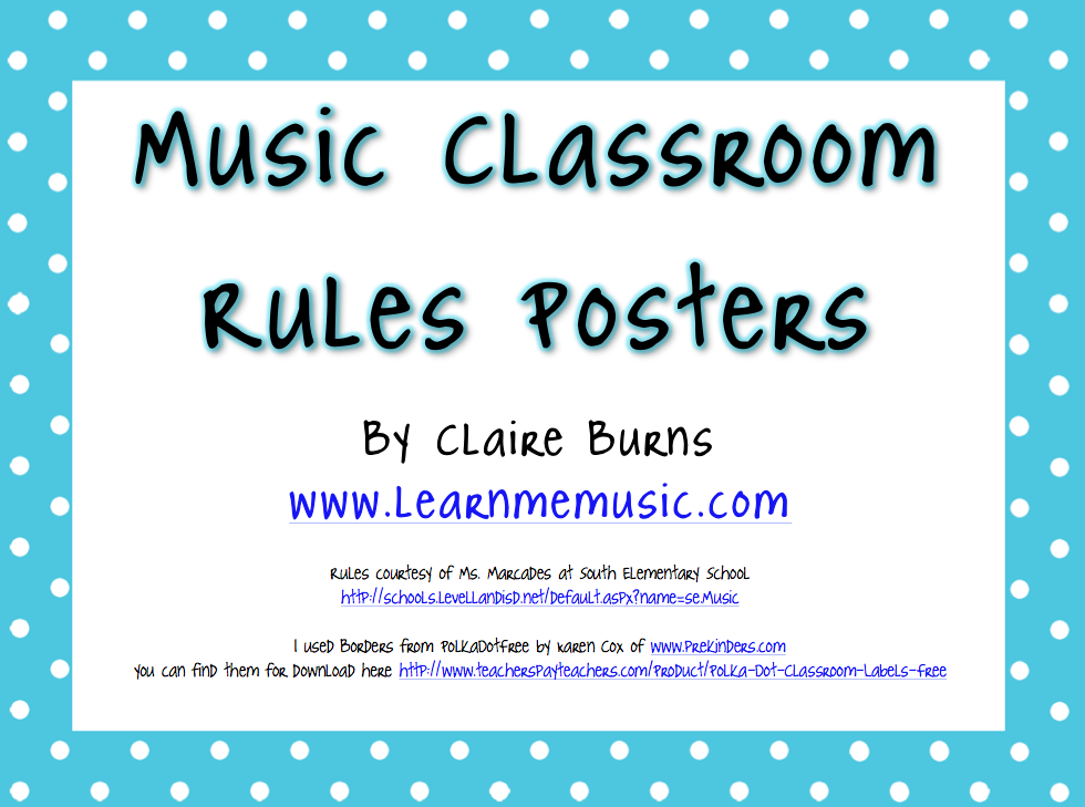 Learn Me Music: Music Classroom Rules Printable Posters | Music ...
