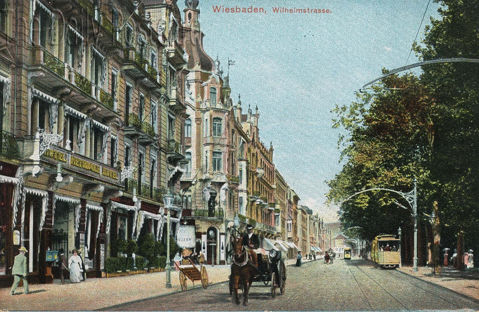 The Daily Postcard Tram Tuesday Wiesbaden