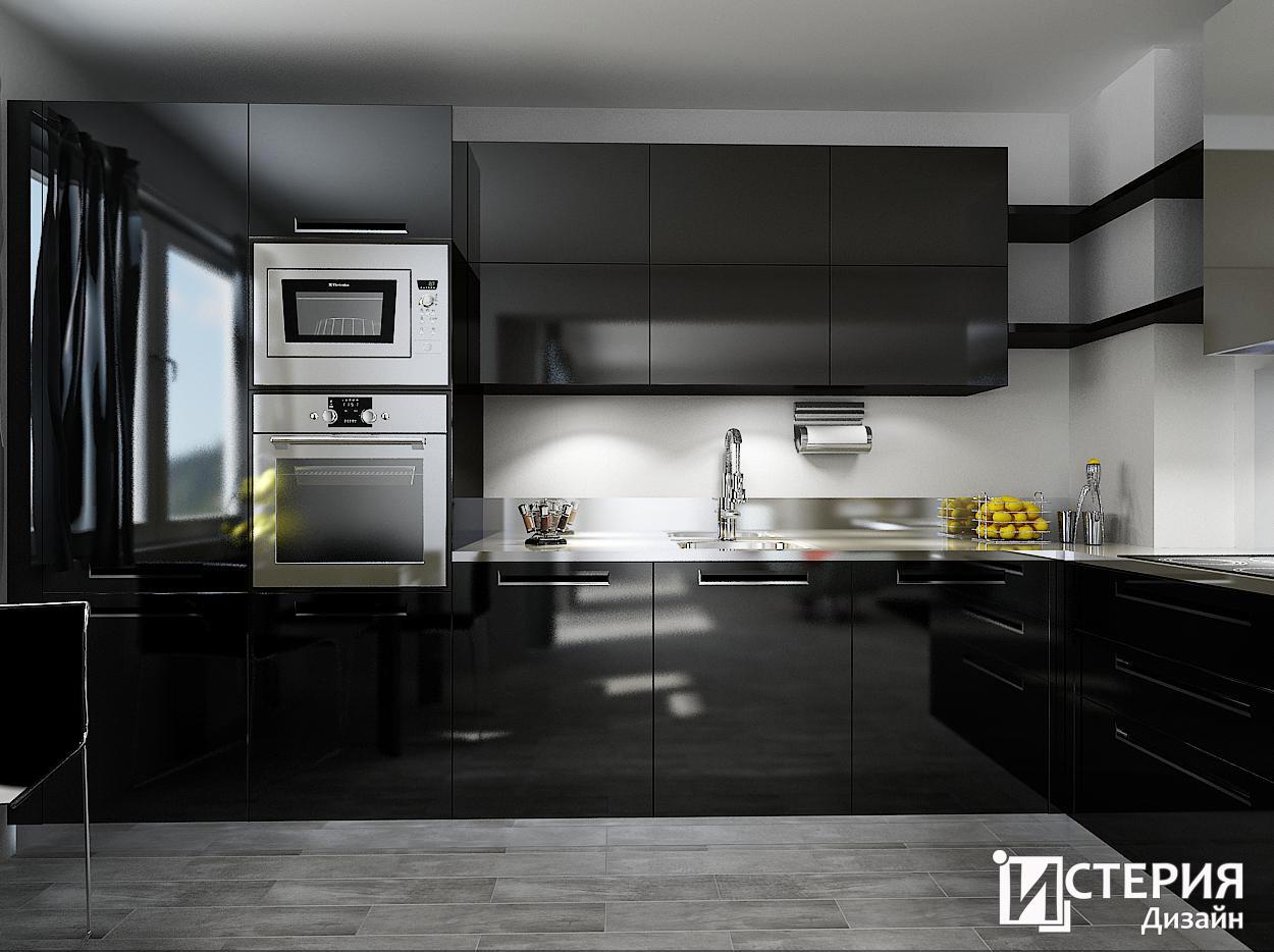 Кухня в черно