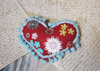 Felt Heart by Tracie Lampe