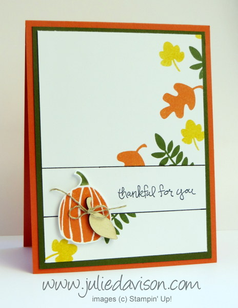 Stampin' Up! Fall Fest Bordered Sentiment Card