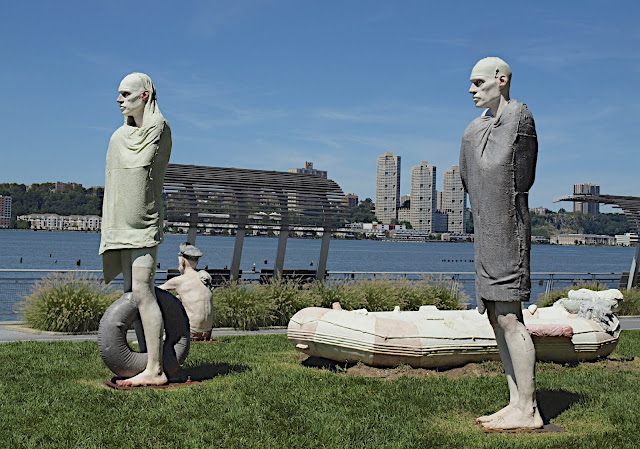 #publicart, Benos Iglesias Lopez, The Bathers, Riverside Park, New York City, #M2M #modelstomonuments