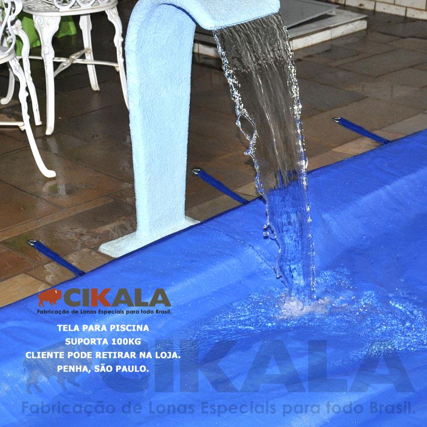 Tela para piscina contra sujeira kit completo para for Tela impermeable para piscinas