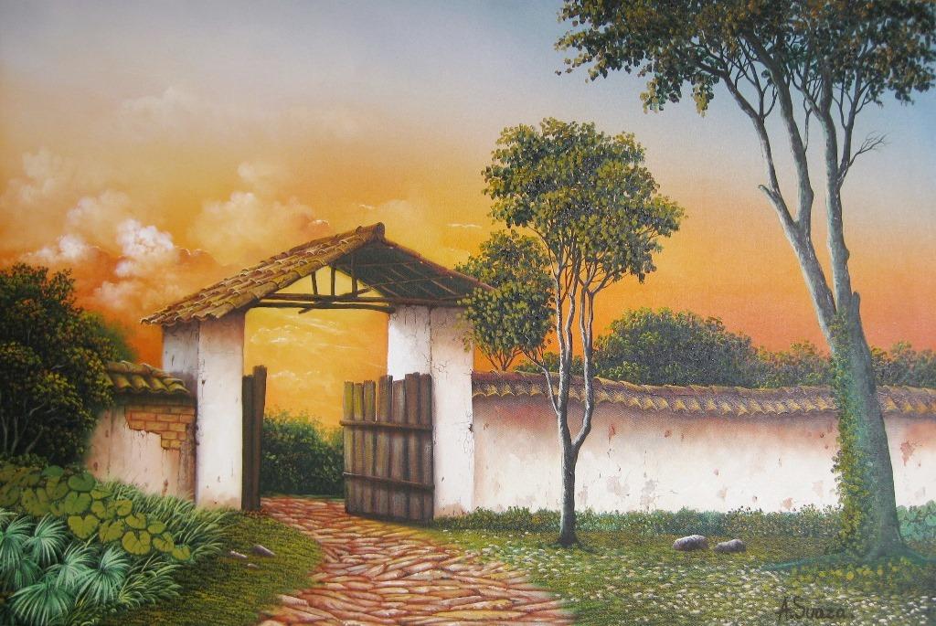 Cuadros modernos pinturas y dibujos 07 25 13 - Cuadros de casas de campo ...