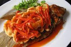 Resep praktis (mudah) ikan bawal saus tiram spesial  (istimewa) enak, lezat