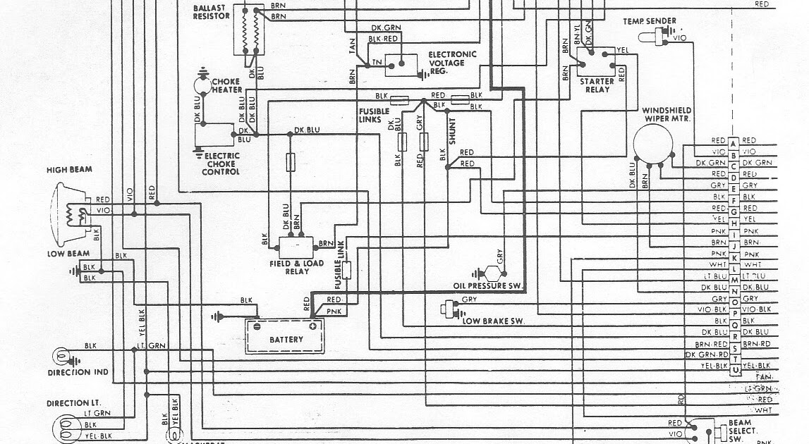 Free Auto Wiring Diagram  1976 Dodge Aspen Engine Compartment Wiring Diagram