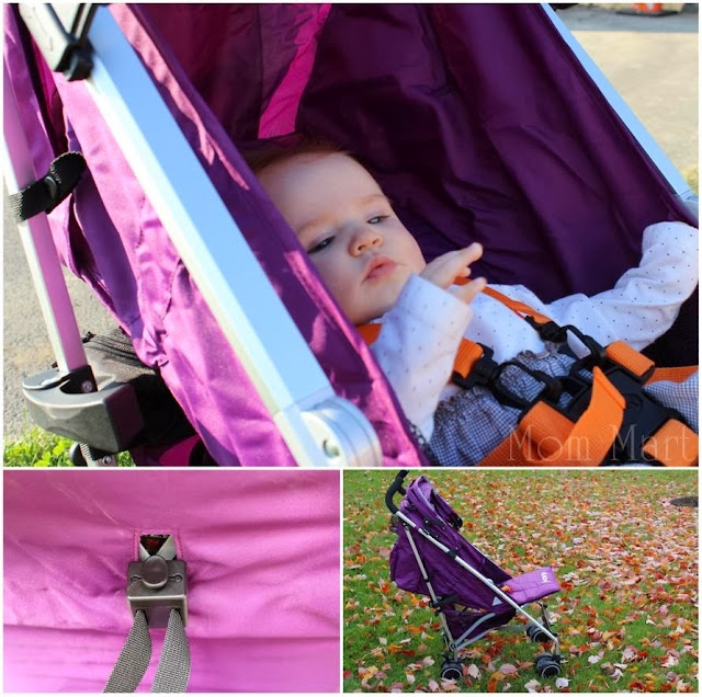 Joovy Groove Ultralight in Purpleness with baby girl