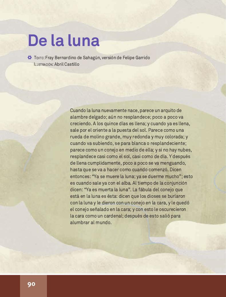 De la luna - Español Lecturas 4to ~ Apoyo Primaria