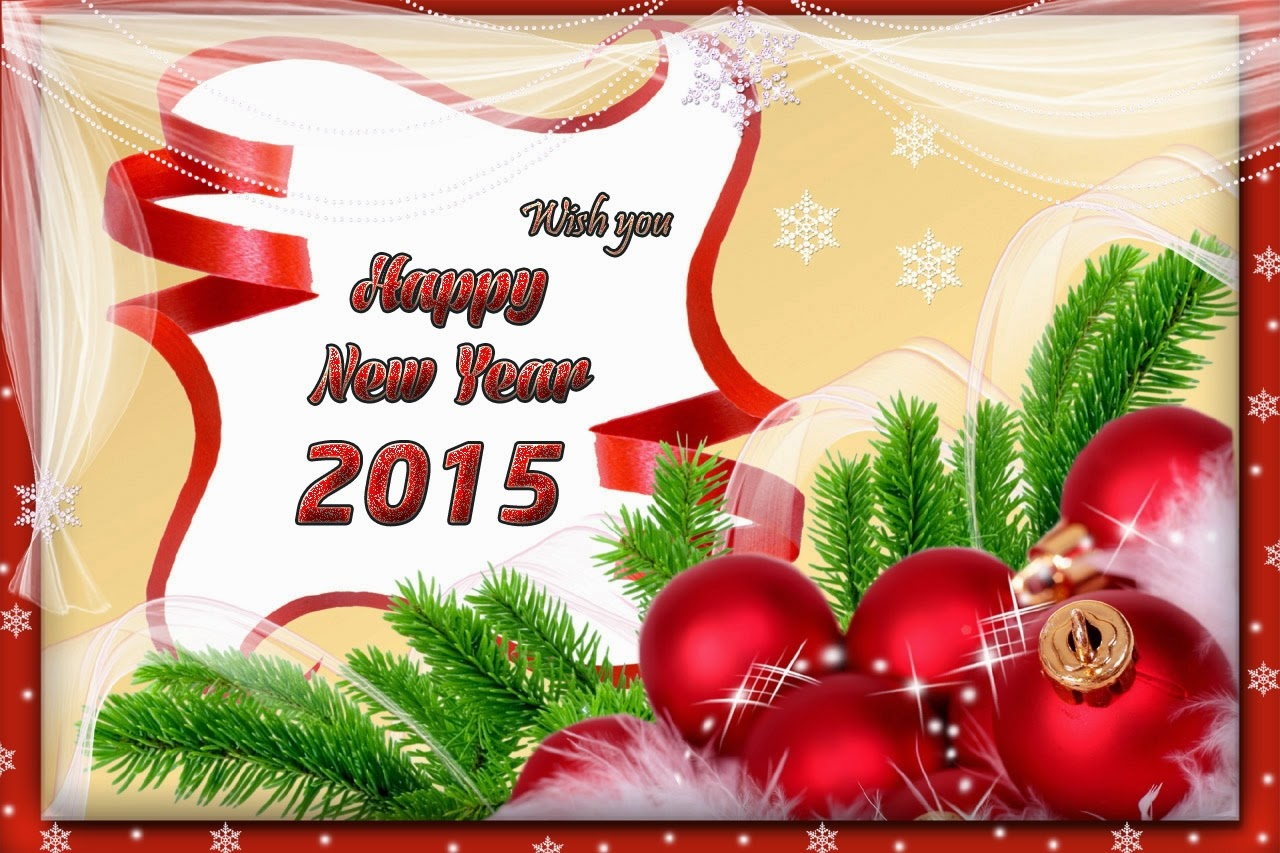 Beautiful Happy New Year Greetings eCards 2015