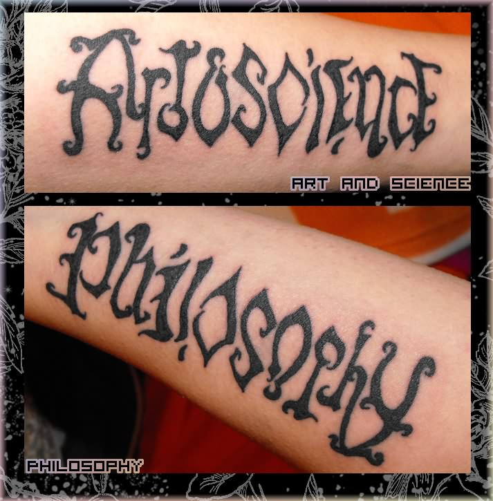 Tattoo design gallery 360 ambigram tattoos the hottest for Tattoos that say something different upside down