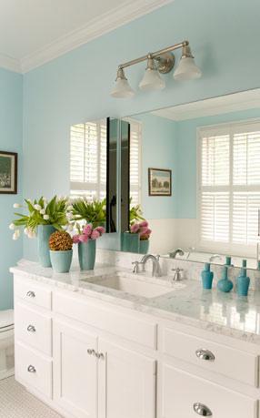 Simpler gifts bathroom decor ideas for Aqua bathroom ideas
