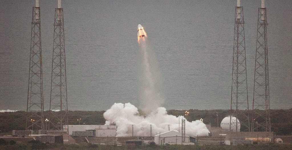SpaceX's Crew Dragon spacecraft during the Pad Abort Test. Credit: SpaceX/NASA