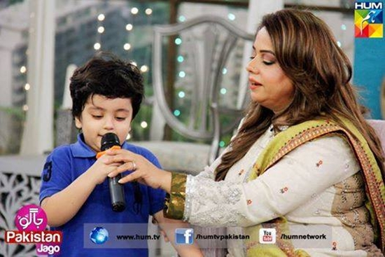 Aaliya Imam with her son Almeer