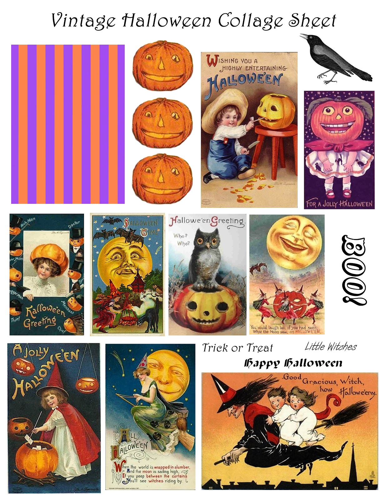 Genius image with vintage halloween printable