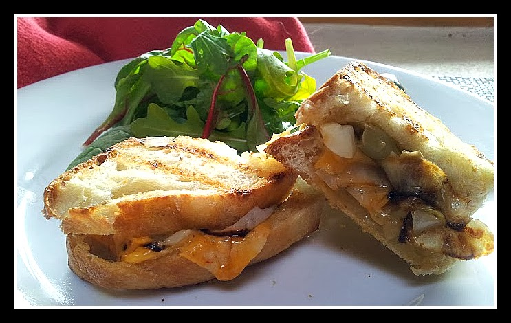 ... ?: Grilled Cheese Sandwiches with Three Pepper Cheese, Grilled