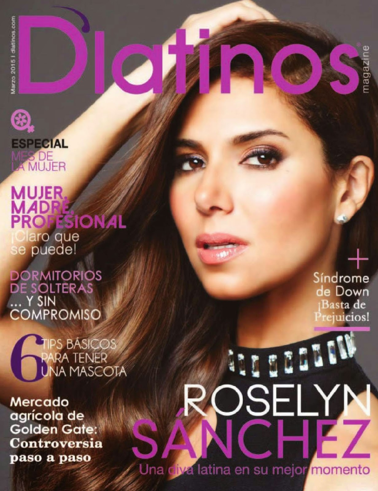 Actress, Singer-Songwriter, Model @ Roselyn Sanchez - D'Latinos, March 2015 Issue