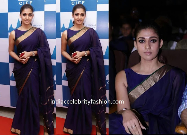 Nayanthara in Plain Saree