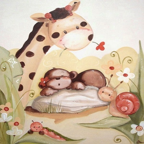 Tableau chambre de bébé