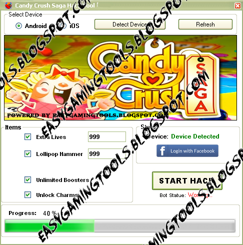 Candy Crush Saga HACK tool [auto update] [all devices