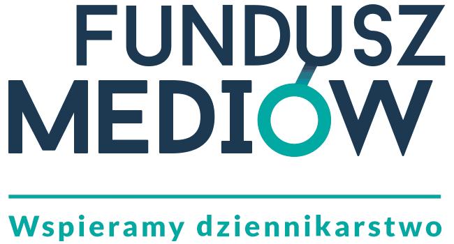 """Logo Fundacji Towarzystwa Dziennikarskiego """"Fundusz Mediów"""""""