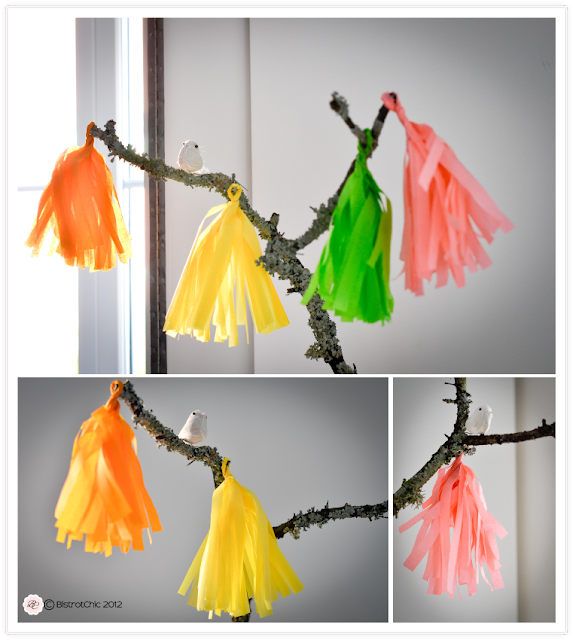 Bird party tassels featured in Kara's Party Ideas from BistrotChic