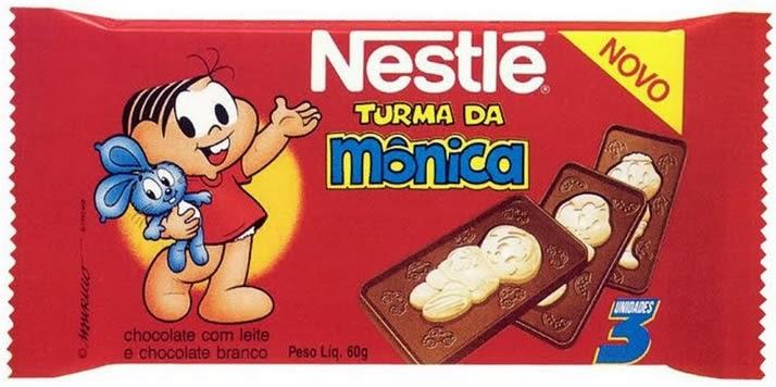 Chocolate da Turma da Mônica - Nestlé - 1995