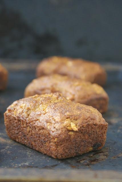 Gluten Free Banana Oat Pecan Mini Loaf