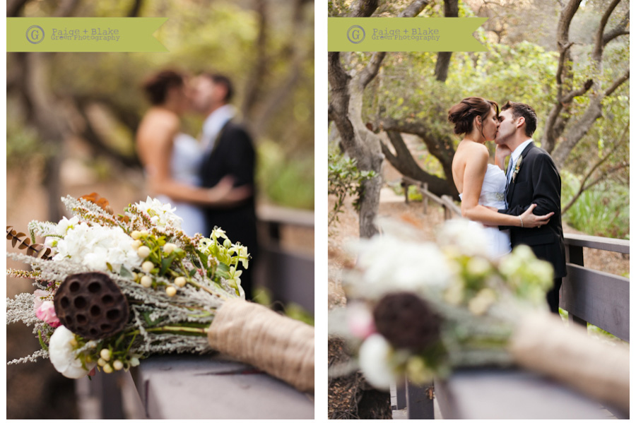 Bride and Groom, Romantics, Wedding pose,  bouquet, Oak Canyon Nature Center, Weddings by Paige and Blake Green